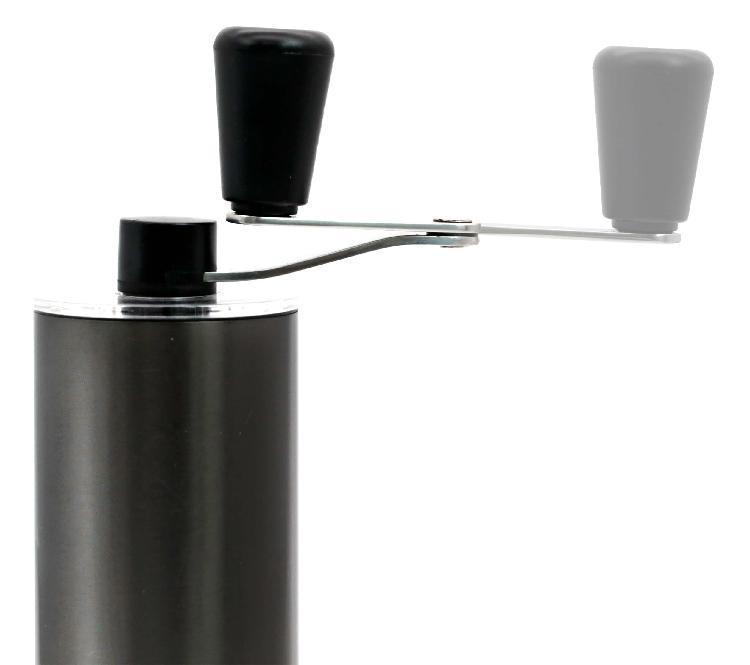 CB Qahwa手沖系列手持式咖啡豆研磨器 | 日本原裝進口 高耐久性可灣折手柄設計,方便攜帶高耐久性PVD塗層陶瓷刀片耐磨透明儲咖啡粉容器