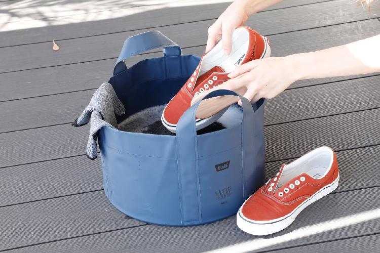 CB 戶外系列防水收折置物桶 | 可當一般水桶使用摺疊不占空間攜帶方便露營烤肉皆適合使用可當外出購物袋
