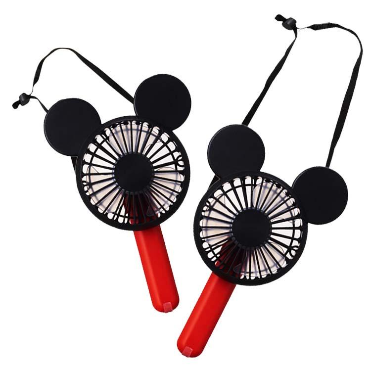 DOSHISHA 迪士尼米奇手持USB充電風扇 | 三段式風量調整出風面360度調整附贈可調式掛繩,直接吊掛身上,攜帶方便貼心止滑設計,放置桌面等平台不輕易滾動附贈USB充電線,方便充電攜帶