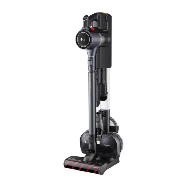 LG CordZero ThinQ A9 K系列濕拖無線吸塵器 A9K-MAX2 | ThinQ遠端操控: 掌控電量、濾網、清潔日誌等升級強勁輕薄地板吸頭,輕鬆深入死角吸塵濕拖一次完成兩顆可更換電池,超強續航120分鐘智慧變頻馬達和軸向渦輪氣旋技術,吸力大升級詳細商品介紹請查閱官網輕壓集塵排空,增加2.4倍集塵空間且好清不髒手