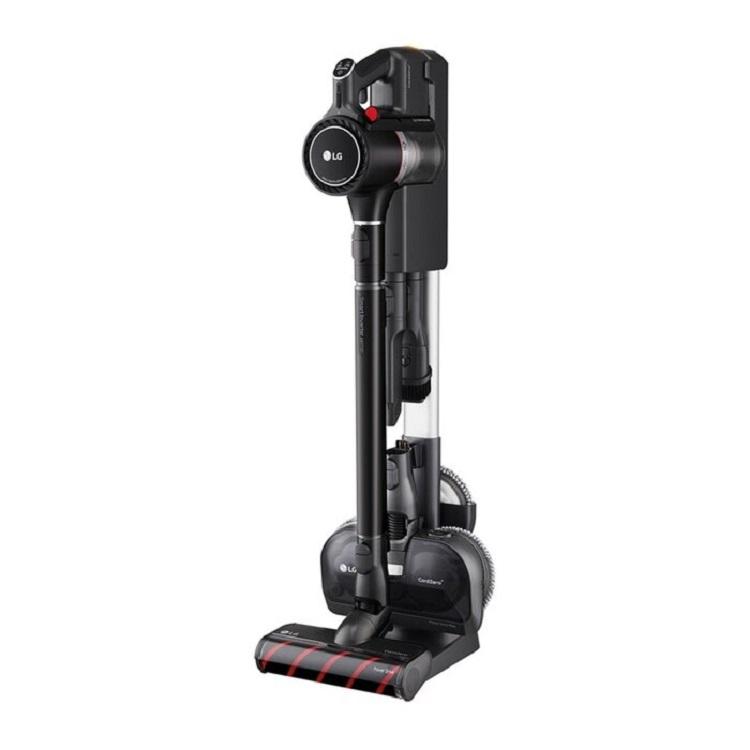 LG CordZero ThinQ A9 K系列濕拖無線吸塵器 A9K-ULTRA3 | ThinQ遠端操控: 掌控電量、濾網、清潔日誌等升級強勁輕薄地板吸頭,輕鬆深入死角吸塵濕拖一次完成兩顆可更換電池,超強續航120分鐘智慧變頻馬達和軸向渦輪氣旋技術,吸力大升級新推出毛髮專用吸頭,清潔清潔寵物寢具輕壓集塵排空,增加2.4倍集塵空間且好清不髒手