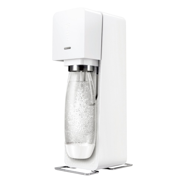 SodaStream Source Plastic氣泡水機 | 自動扣瓶裝置知名設計師作品氣泡含量指示燈,控制氣泡含量更輕鬆新鮮氣泡就要「噗嘶-」 口感,不必妥協隱藏功能式機頂打氣方塊,全機設計更精簡