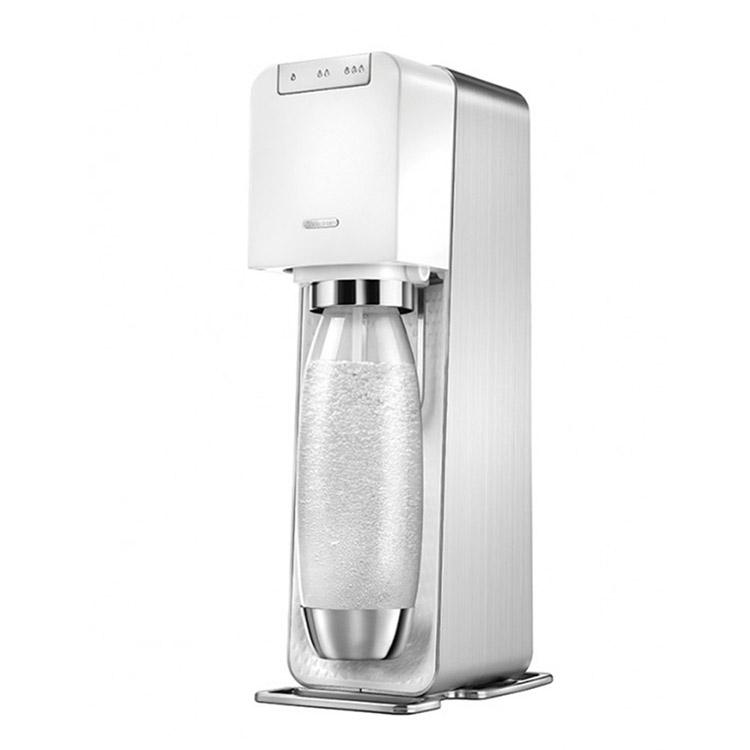 SodaStream Power Source電動氣泡水機 | 三階段氣泡含量指示不用插電、不需電力全新自動扣瓶裝置添加糖漿或果汁成為各式汽水/調酒詳細商品介紹請查閱官網輕按3下,沁涼氣泡水即完成