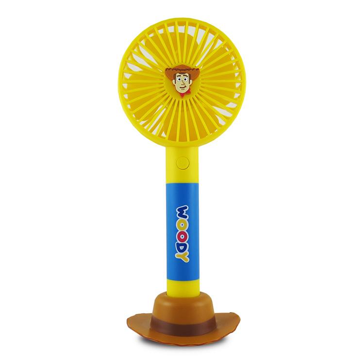 迪士尼手持風扇(胡迪) | 迪士尼官方正版授權重覆充電電池 環保又節電風扇功能多 可做三段調速握把設計適中 舒適好握