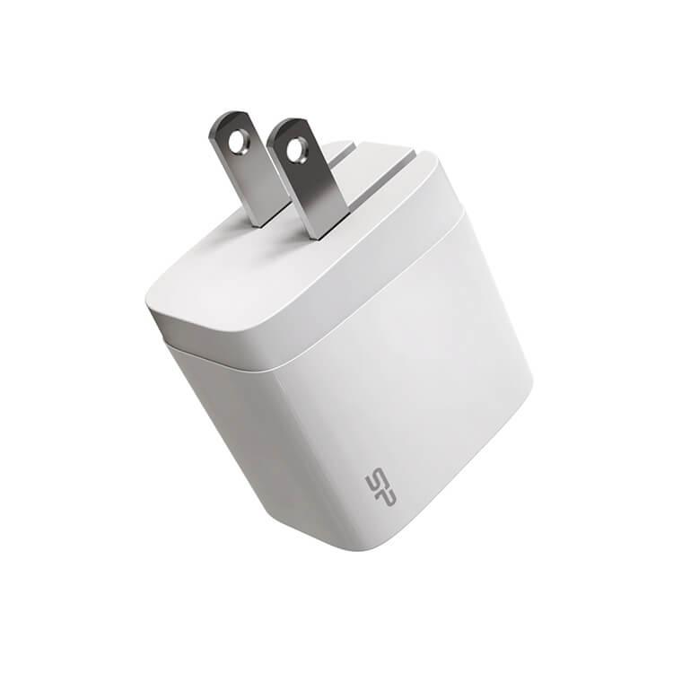 SP 廣穎 PD雙孔18W快充充電器 | 支援Type-C PD雙向快充支援USB Type-A QC3.0快充輸出功率高達18W