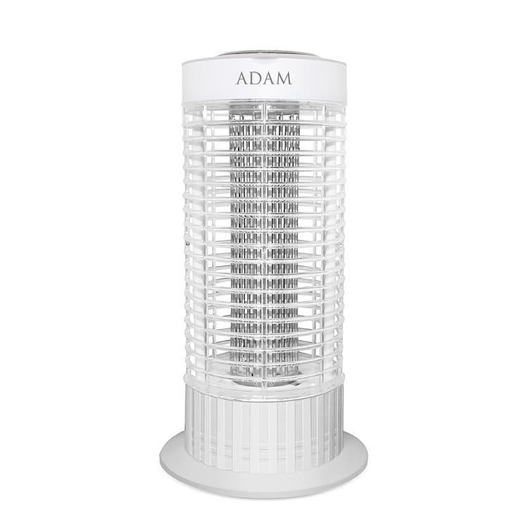 ADAM 10W 補蚊燈 ADML-100   高規格10W捕蚊燈管防火材質,安全可靠變壓器採用溫度保險絲本體內部採用防爆保險絲底部大空間集蚊盒雙重安全保護,用得安心高密度電擊網,效率高
