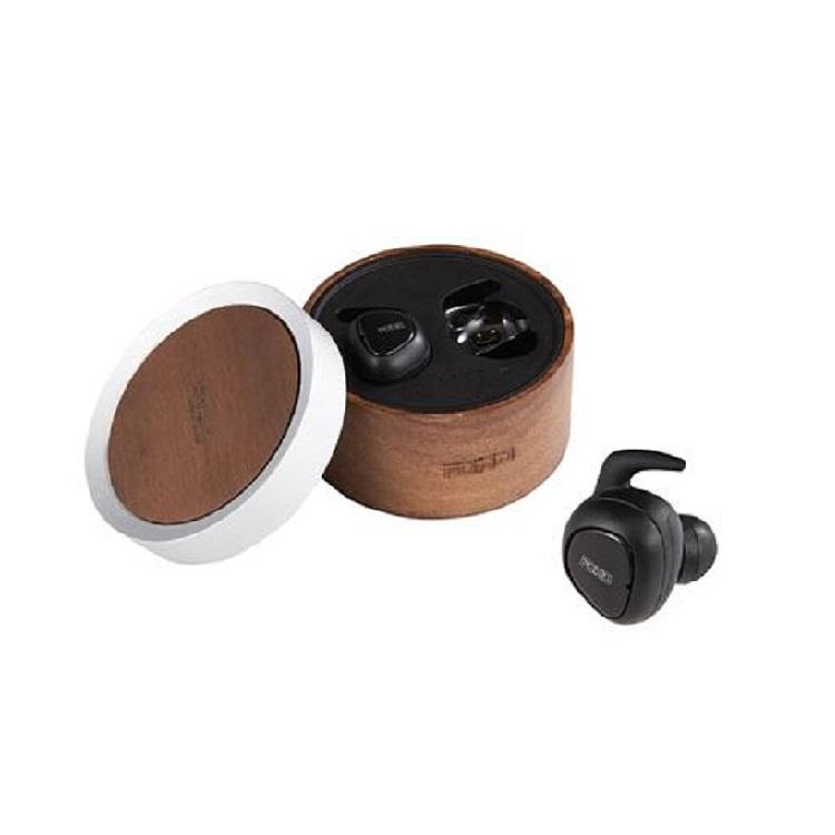 FOHO 文青木盒真無線藍芽耳機5.0 | 全新升級藍牙5.0 連線穩定快速世界級專業音效團隊打造完美音質氣動波紋設計,好穿戴不掉落連續播放音樂時間:5H無線充電盒,滿足額外10H使用專屬矽膠耳塞,有效阻隔外界噪音預購商品,約一週到貨,請您耐心等候
