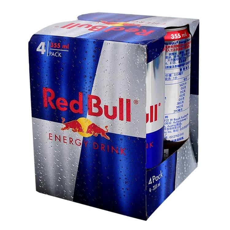 Red Bull 紅牛能量飲料_250ml (4入)_商城 | 多國暢銷機能飲品成份獨特組合的功能飲料全球世界級運動員、繁忙專業人士喜愛