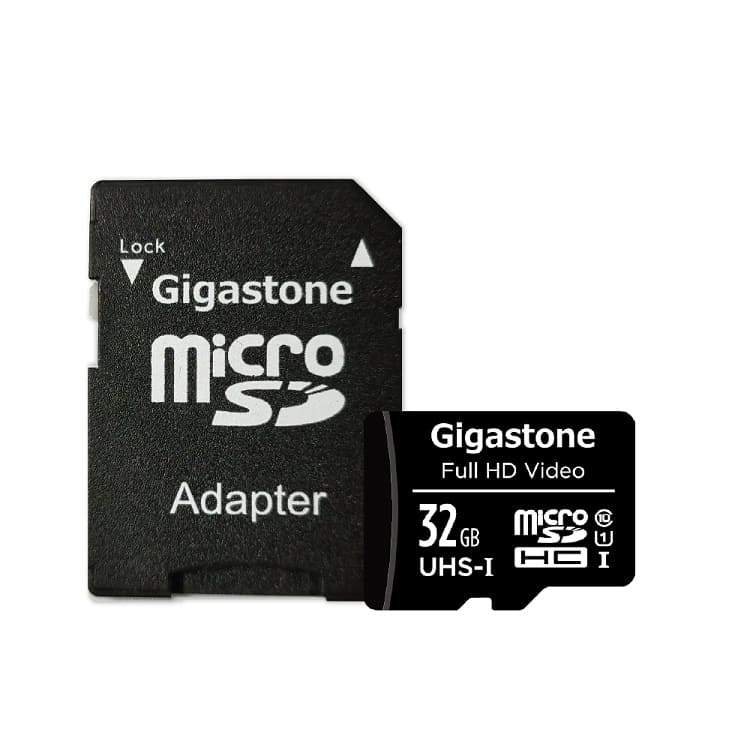 Gigastone MicroSDHC Class10 32G記憶卡(附轉卡) | 高產品穩定性Class10高速傳輸全球知名大廠OEM指定使用附轉卡