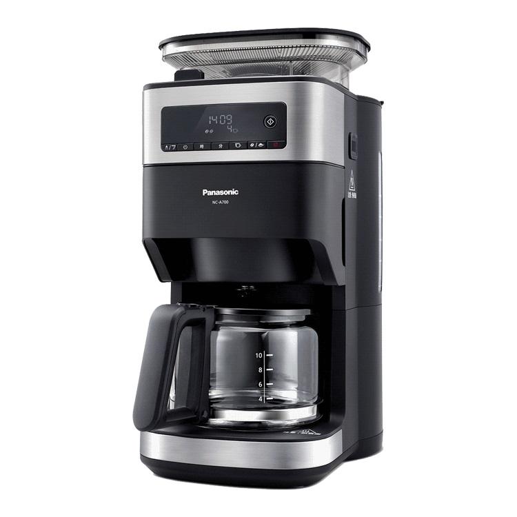 Panasonic 全自動雙研磨美式咖啡機 NC-A700   詳細商品介紹請查閱官網獨特雙研磨,均勻萃取豆盒、研磨頭可拆卸清洗一鍵完成管線自動清洗因拆封可能損及再銷售權益,恕不接受退貨