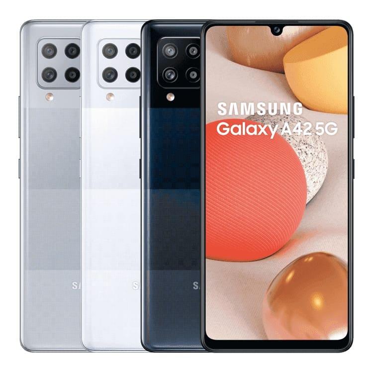 SamsungGalaxy A42 5G   預購商品,依原廠到貨時間為準,請您耐心等候螢幕6.6吋/相機(主)最高48MP四鏡、(前)20MP單鏡/6GB RAM+128GB ROM高通S750G處理器/電池容量5,000mAh/5G+4G雙卡雙待5G高速連網3D手感類玻璃時尚背蓋支援螢幕指紋辨識